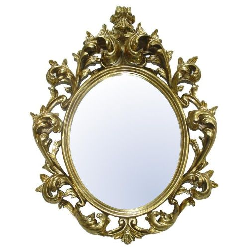 Baroque Gold Bevelled Oval Tall Mirror